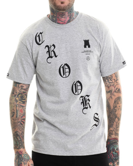 Crooks & Castles - Men Grey Crooked T-Shirt