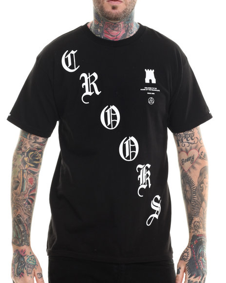 Crooks & Castles - Men Black Crooked T-Shirt