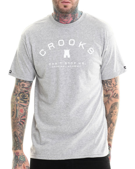 Crooks & Castles - Men Grey Upperclass T-Shirt