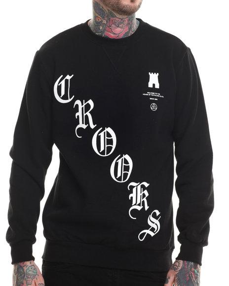Crooks & Castles - Men Black Boodie Down Sweatshirt - $65.00