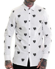 Long-Sleeve - Heartless Printed Oxford L/S Button-down