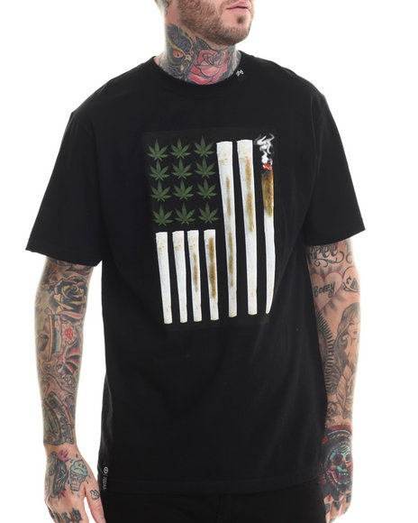 LRG - Men Black Joint Chiefs Of Staff T-Shirt