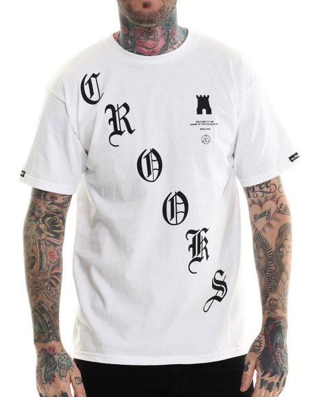 Ur-ID 207177 Crooks & Castles - Men White Crooked T-Shirt