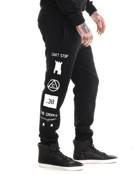 Crooks & Castles - Men Black Mobbin Sweatpant