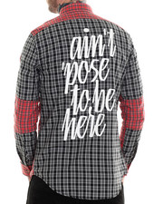Men - Poser Brushed Flannel L/S Button-down