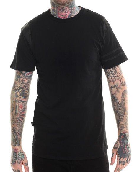 Eptm. - Men Black Elong Satin Nite S/S Tee - $20.99