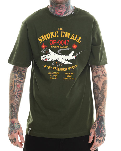 LRG - Men Green Smoke Em All T-Shirt