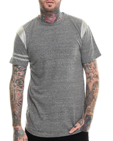 Eptm. - Men Grey Elong Satin Monday S/S Tee - $15.99