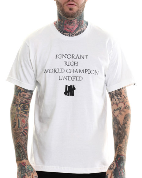 Ur-ID 207248 UNDFTD - Men White World Champion Tee