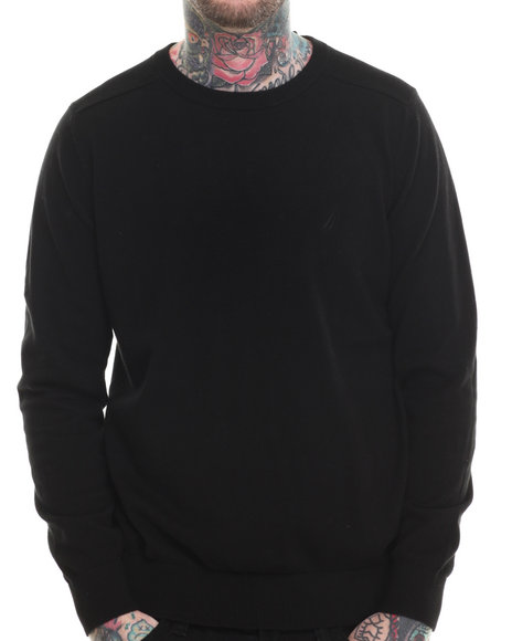 Nautica - Men Black Mixed Texture Sweater