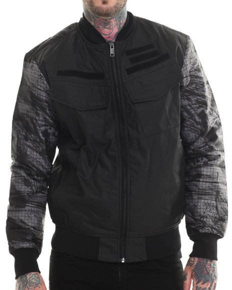 Rocawear Blak - Men Black Flight Jacket