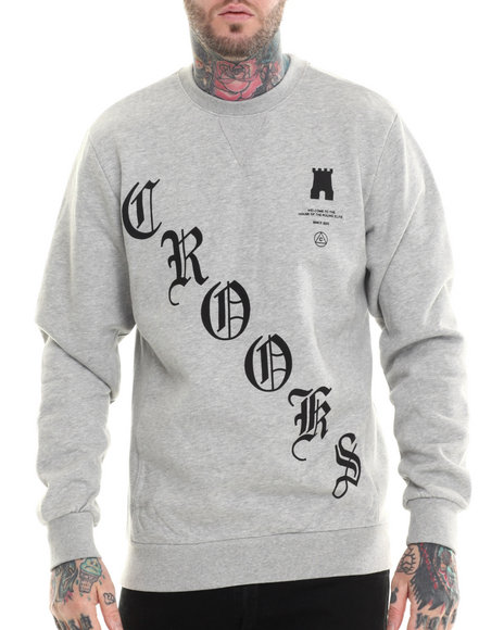 Crooks & Castles - Men Grey Boodie Down Sweatshirt