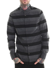 Long-Sleeve - Tonal Stripe Flannel L/S Button-down