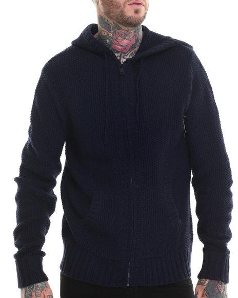 Rocawear Blak - Men Navy Zip Front Sweater