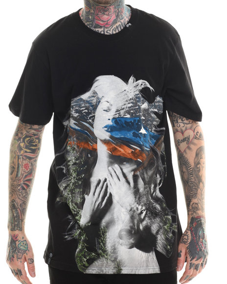 LRG - Men Black Nature T-Shirt