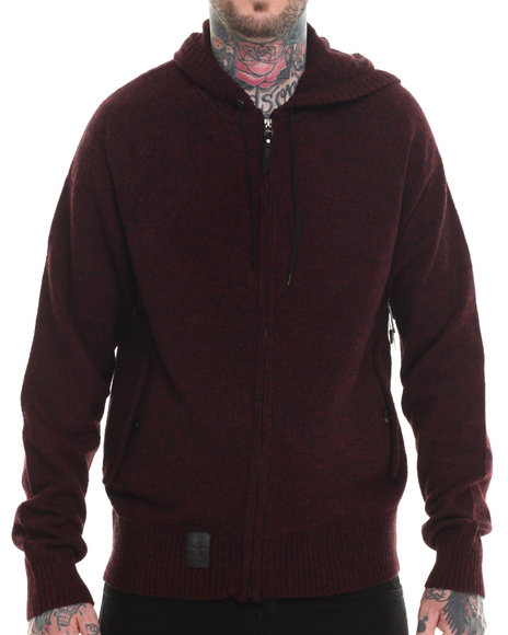 Lrg - Men Maroon Research Collection Zip Up Hoodie