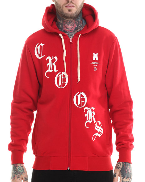 Crooks & Castles Red Hoodies