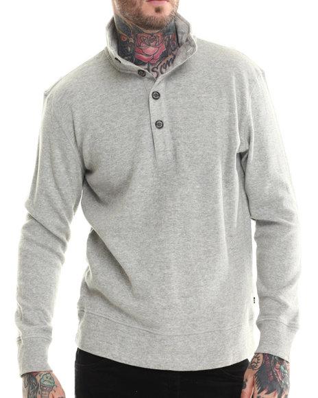 Nautica - Men Grey Box Waffle L/S Sweater