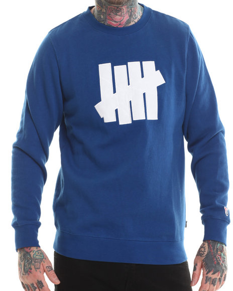 Undftd - Men Blue 5 Strike Crew Sweatshirt