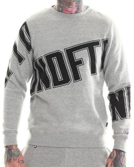 Undftd - Men Grey Primetime Crew Sweatshirt