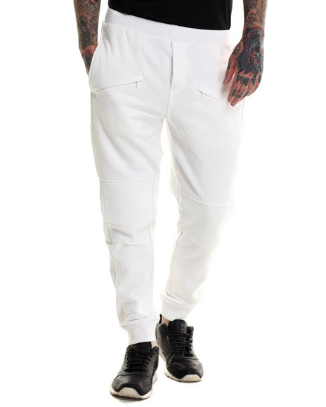 Rocawear Blak - Men White Moto Pants