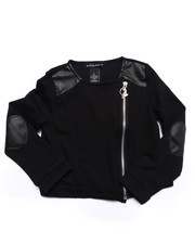 Baby Phat - PU PIECED KNIT JACKET (4-6X)