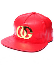 Hats - OG Quilted Faux Leather Strapback