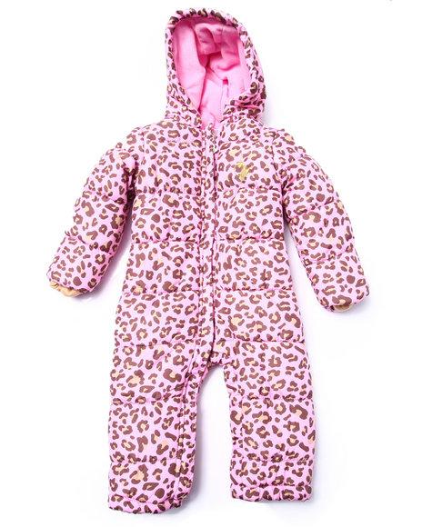 Baby Phat - Girls Animal Print Leopard Print Snowsuit (Infant)