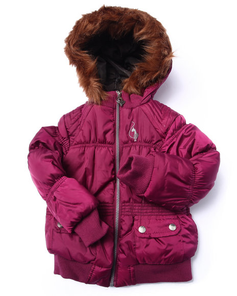 Baby Phat - Girls Pink Rouched Bomber (4-6X)