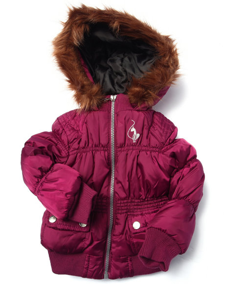Baby Phat - Girls Pink Rouched Bomber (2T-4T)