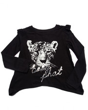 Baby Phat - TOUGH KITTY L/S TOP (7-16)