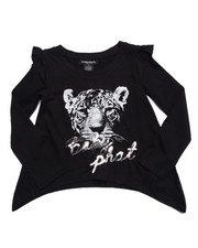 Baby Phat - TOUGH KITTY L/S TOP (4-6X)