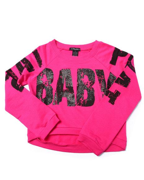 Baby Phat - Girls Pink Logo Popover Top (7-16)