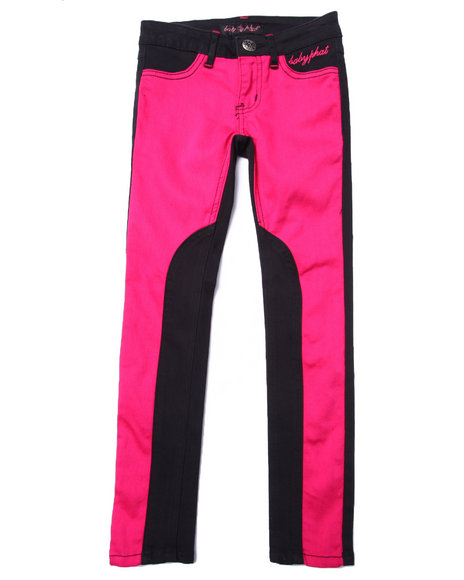 Baby Phat - Girls Pink Front/Back Twill Jeans (7-16)