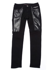 Bottoms - PU PIECED SKINNY JEAN (7-16)