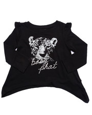 Baby Phat - TOUGH KITTY L/S TOP (2T-4T)