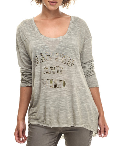 Bianco Jeans Women Wanted And Wild Relaxed Boyfriend L/S Olive