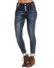 Women - Skinny Boyfriend Cuff Jean
