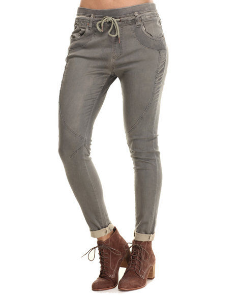 Bianco Jeans - Women Olive Twill Jogger Pant