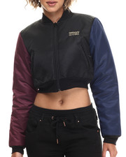 Outerwear - Cropped Bomber Jacket