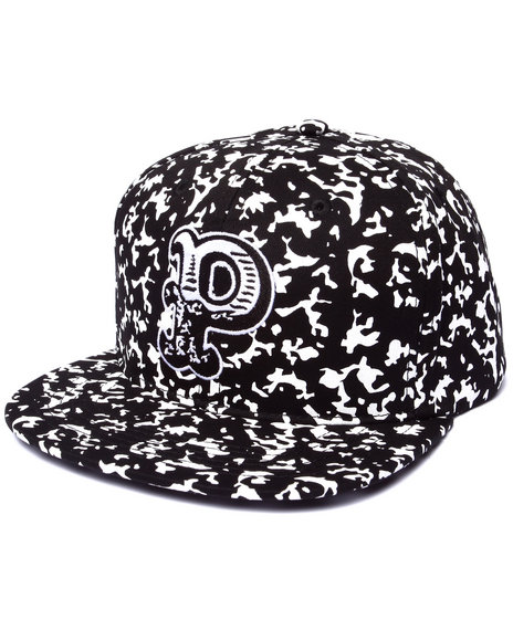 Ur-ID 222947 Pink Dolphin - Men Black Composition P Snapback Hat