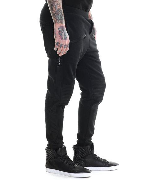 Rocawear Blak - Men Black Moto Pants