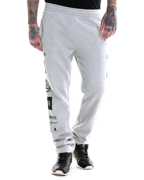 Crooks & Castles - Men Grey Mobbin Sweatpant