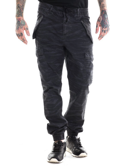 Lrg - Men Black Wasteland Cargo Jogger
