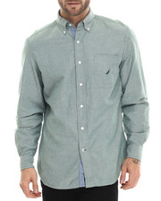 Nautica - Solid Oxford L/S Button-Down