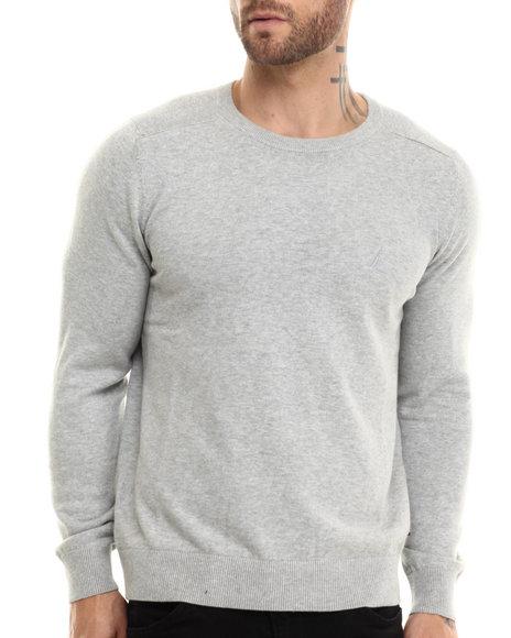 Ur-ID 207187 Nautica - Men Grey Mixed Texture Sweater