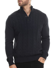 Men - Button Mock Sweater