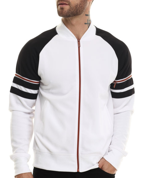 Ur-ID 207286 Akademiks - Men White Horizon Neoprene Track Jacket