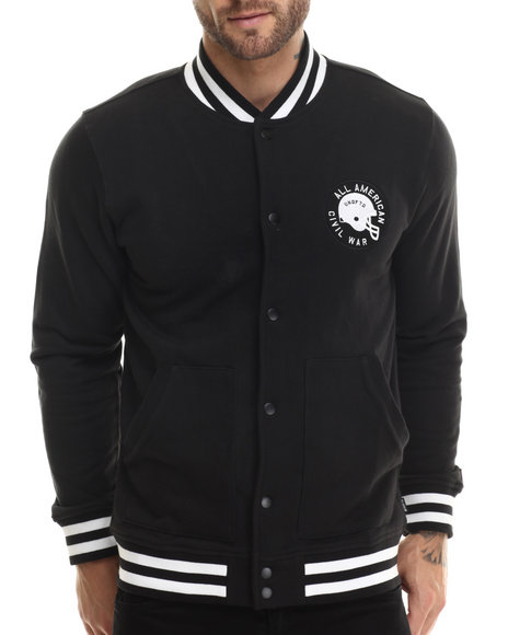 Undftd - Men Black Civil War Varsity Jacket
