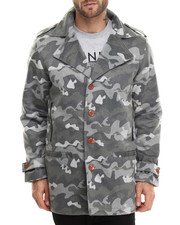 Outerwear - Camo Wool Peacoat